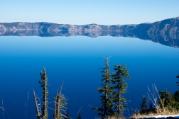 First view of the infamous Crater Lake