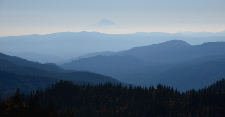 Mt Hood barely visible.
