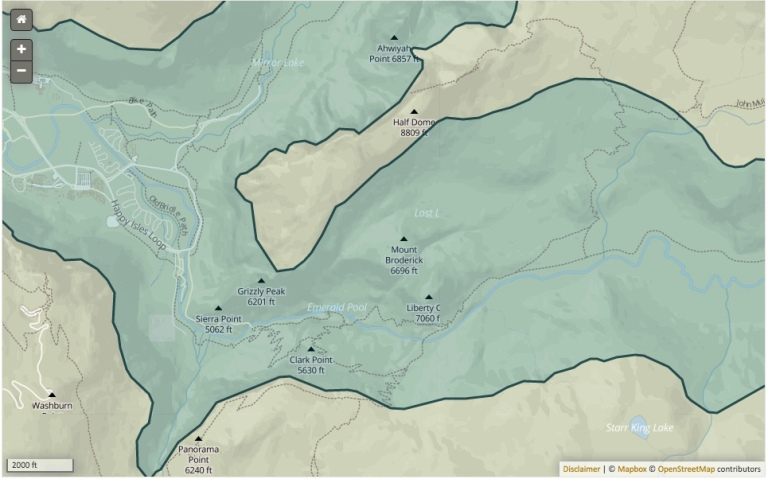 Glacial Extent map